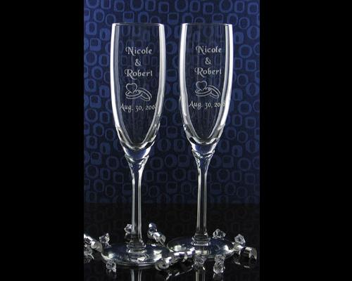 Champagne Flute Glass Bride Groom Heart Rings Price 3700 each